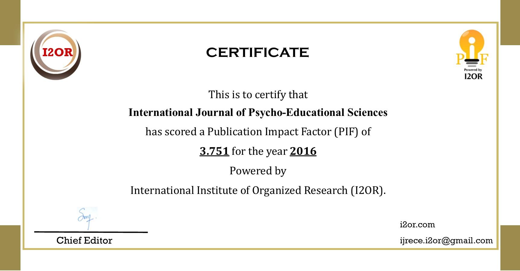 International-Journal-of-Psycho-Educational-Sciences-certificate-2016